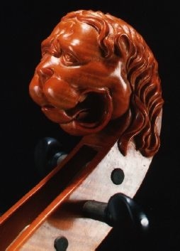 Lion violin scroll