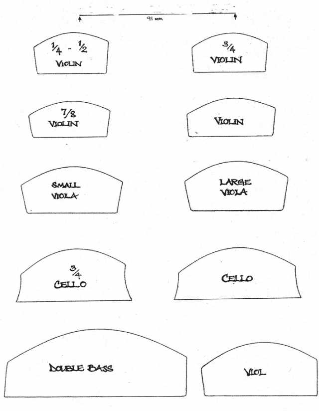 Patterns, Molds, Templates - International Violin