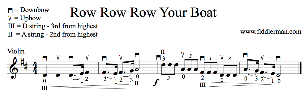 Learn to play Row Row Row Your Boat on the violin | LEARN TO PLAY ...