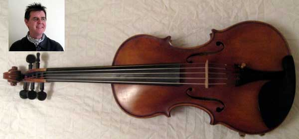 Jim's 5-string fiddle.